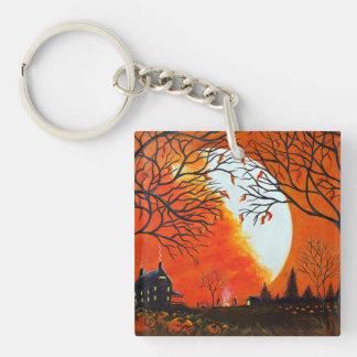 Autumn scene key chain