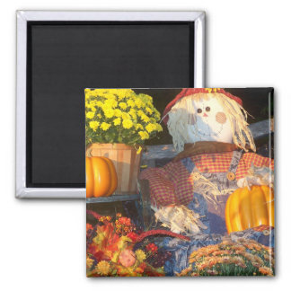Autumn Scene Square Magnet