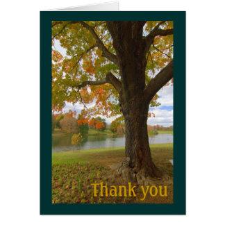 Autumn Scene Thank You Card
