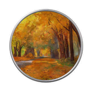 Autumn Scenery Painting Gift Snip Snap Tin Candy Tins