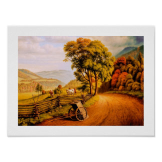 Autumn Scenery Painting Poster