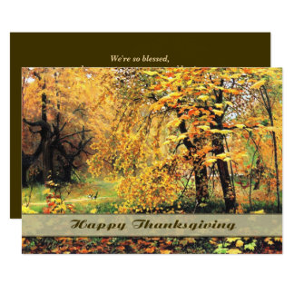Autumn Scenery Painting Thanksgiving Invitations