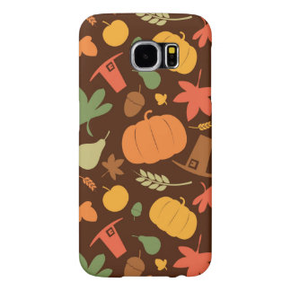 Autumn seamless background, Thanksgiving day. Samsung Galaxy S6 Cases