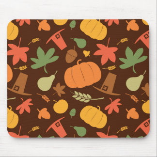 Autumn seamless background Thanksgiving day Mousepad