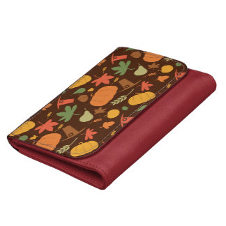 Autumn seamless background Thanksgiving day Wallets