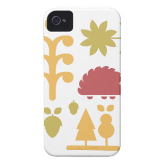 Autumn seamless pattern with cute cartoon forest a iPhone 4 Case-Mate case