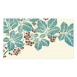 Autumn Season Botanical Ivy Leaves and Berries Double-Sided Standard Business Cards (Pack Of 100)
