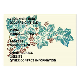 Autumn Season Botanical Ivy Leaves and Berries Large Business Cards (Pack Of 100)