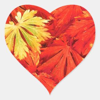 Autumn Simplicity Heart Sticker