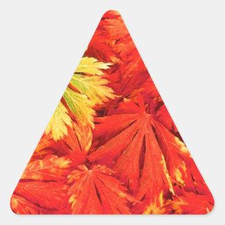 Autumn Simplicity Triangle Sticker