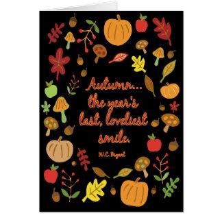 Autumn Smile Card