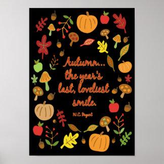 Autumn Smile Poster