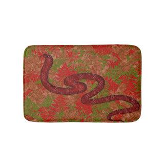 Autumn snake bath mat