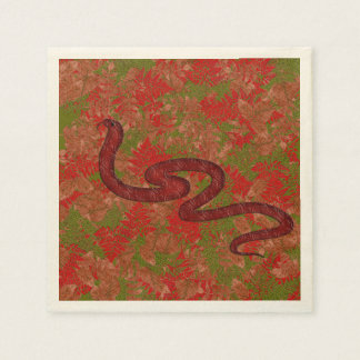 Autumn snake disposable serviettes