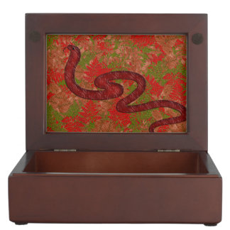 Autumn snake keepsake box
