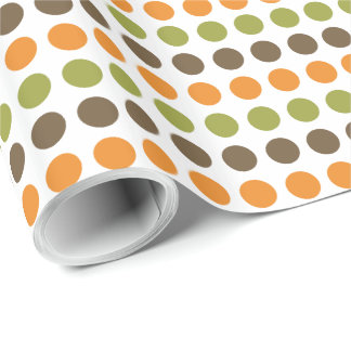 Autumn Spice Polka Dots Wrapping Paper