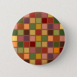 Autumn Squared 6 Cm Round Badge