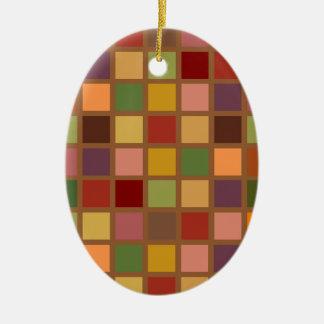 Autumn Squared Ceramic Ornament