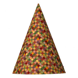 Autumn Squared Party Hat