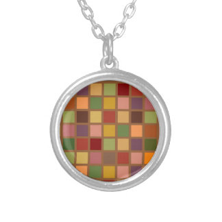 Autumn Squared Silver Plated Necklace