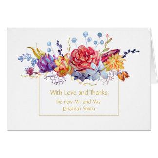 Autumn Succulents Thank You | Card