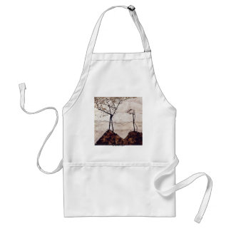 Autumn Sun And Trees By Schiele Egon Apron