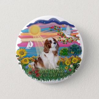 Autumn Sun - Blenheim Cavalier 6 Cm Round Badge