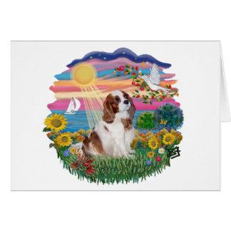 Autumn Sun - Blenheim Cavalier Greeting Card