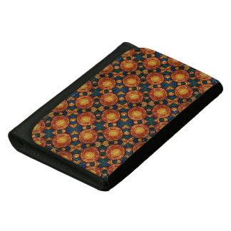 Autumn Sunburst Pattern Leather Wallet For Women