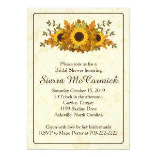 Autumn Sunflower Wreath Bridal Shower Invitation