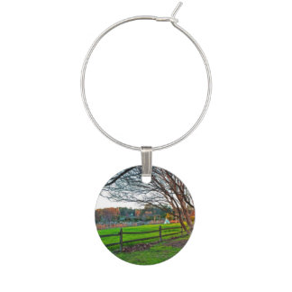 Autumn Sunset by Shirley Taylor Wine Glass Charms