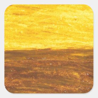 Autumn Sunset over Harvest Field (minimalism) Square Sticker