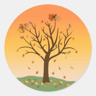 Autumn Sunset Stickers