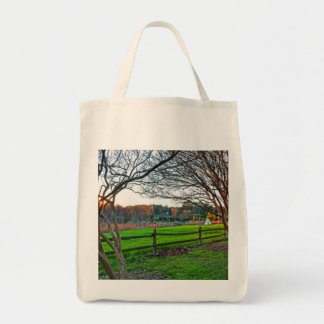 Autumn Sunset Grocery Tote Bag