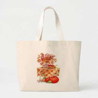 Autumn Table Jumbo Tote Bag