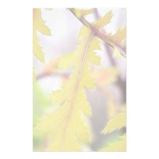 Autumn Tansy Leaves Personalised Stationery