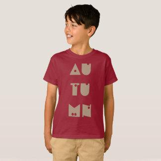 Autumn Text Funny Typography Fall Season T-Shirt