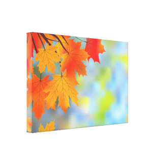 Autumn Theme Beautiful Wrapped Canvas Canvas Prints