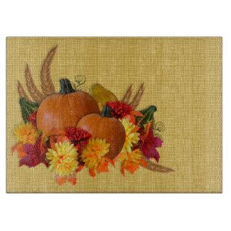 Autumn theme glass cutting board