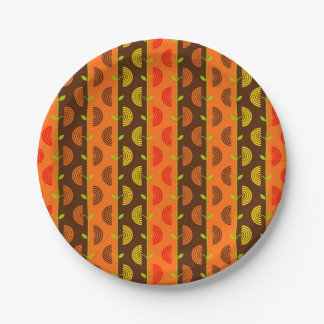 Autumn Theme Patterns 7 Inch Paper Plate