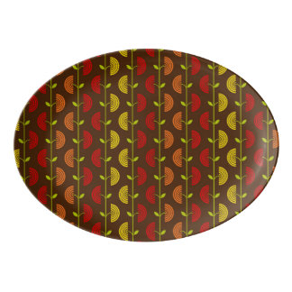 Autumn Theme Patterns Porcelain Serving Platter