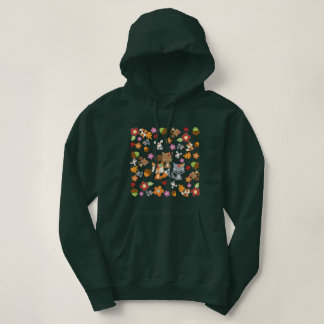 Autumn Theme Woodland Animals Pattern Hoodie