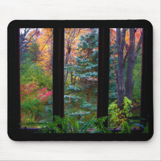Autumn through the Window Mouse Pad