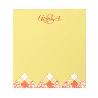 Autumn Tints Quilt Block Pattern Notepad