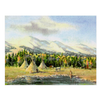 AUTUMN TIPIS by SHARON SHARPE Postcard