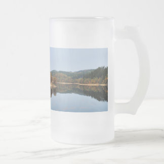 Autumn to the Aggertalsperre Frosted Glass Beer Mug