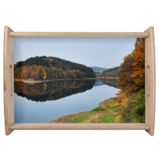 Autumn to the Aggertalsperre Serving Tray