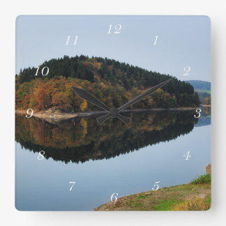 Autumn to the Aggertalsperre Square Wall Clock