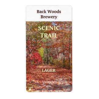 Autumn Trail ~ Beer Wine Label