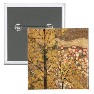 Autumn Tree 15 Cm Square Badge
